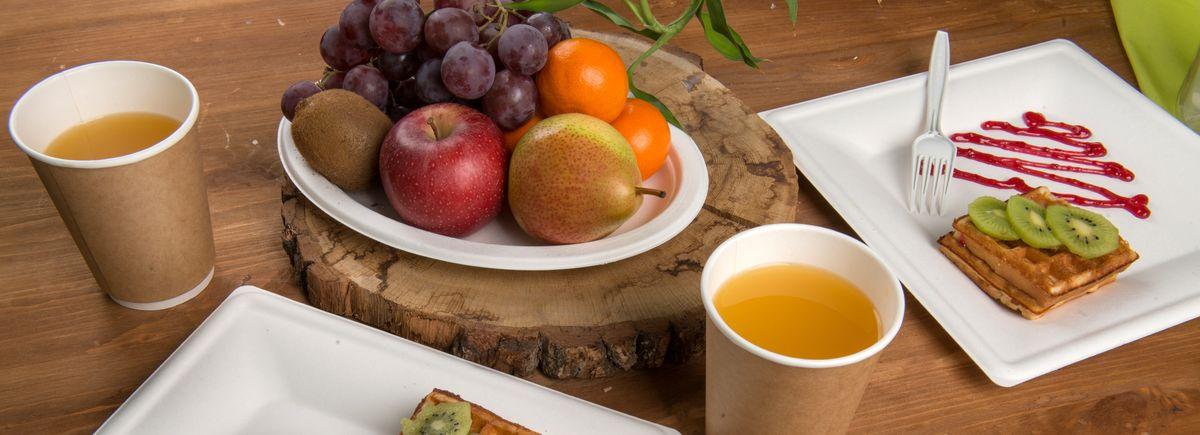 Посуда и Упаковка <br> из экологичных материалов