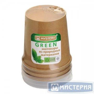 Упаковка (Супница) 445мл, d-97мм, h-100мм, с пластиковой крышкой, крафт 3 шт/упак 24 уп/кор