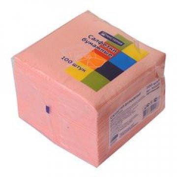 Салфетки Мистерия классик 24х24 см, 1сл., розовый, бум. (100л) 100  шт/уп 60 уп/кор