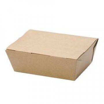 Коробка DoEco 150х115х50мм ECO LUNCH 600, коричн. (ланч-бокс) 350 шт./уп. 350 шт./кор.