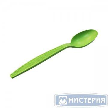 Ложка 170мм, зелён., кукурузный крахмал 50 шт/упак. 20 упак/кор