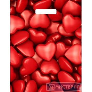Пакет (мешок) проруб. ПВД 40х31см, 60мкм, Сердечки 50шт./уп 500 шт./кор