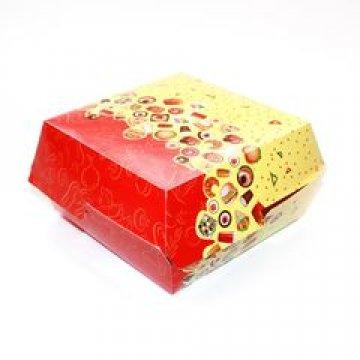 Коробка д/бургера 120х120х70мм с печатью Рог изобилия 300 шт./уп 300 шт./кор
