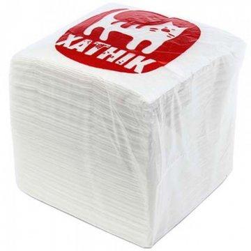 Салфетки бумажные неокрашенные 100 штук в пачке ТМ Хатнiк  производства РБ 16уп /меш