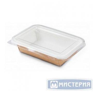 Контейнер (Салатник)под запайку 500 мл картон,крафт 140х90х42мм ECO Sealpack 500 50 шт/уп 400шт/кор