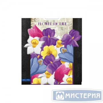 Пакет (мешок) проруб. ПВД 47х38см, 60мкм, Цветочная картина 25 шт/уп 1 000 шт./кор