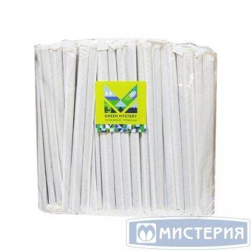 Трубочки бумажные Black, цвет чёрный, d=6мм L = 195мм, инд. бумажн. уп. 250 штук/уп 20 упак/ кор