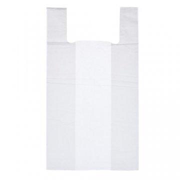 Пакет из ПЭНД 30/7.5*55 (13мкм) майка белая 100шт/упак