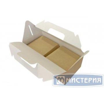 Коробка 4000мл, 288х142х75мм ECO BOX WITH HANDLE, универсальн., крафт, картон 200 шт/упак 200 шт/кор