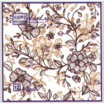 Салфетки 12л, Home Collection LinLuxe Восточные цветы, 1-сл, 40х40 см