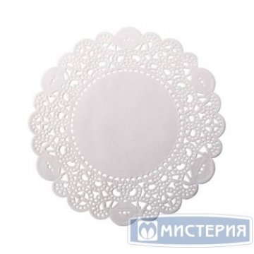 Салфетки серв. d 30см (внутр-20см), бел. Бумага 250 шт/уп 14 уп/кор