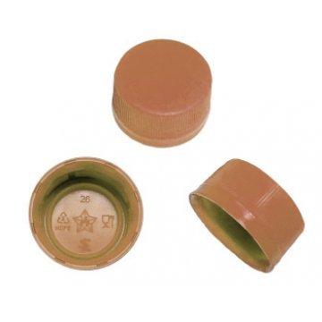Колпачки ПВ , 28мм, тип 8, коричневые без прокладки 7500шт/меш