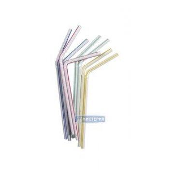 Трубочки д/коктейля прямые разноцвет. d=10мм L=250мм, ПП 250 шт/уп 12 уп/кор