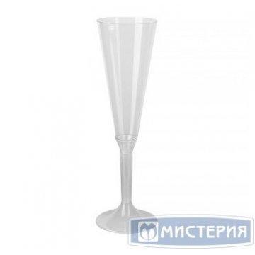 Фужер д/шамп., 0.16л, h 250мм, флюте, (на высокой ножке), прозрачн., ПС 20шт/упак 100 шт /кор