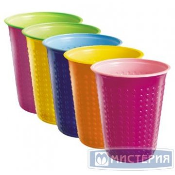 Стакан д/хол./гор., 0.2л, Bicolor, цвет в ассорт., ПС 6 шт./уп. 60 уп/кор