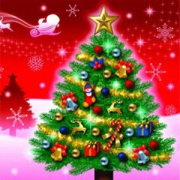 Салфетки 33х33см, 2 сл., с рис. Новогодняя ель на красном, многоцвет., бумага 20шт/уп 15уп/кор