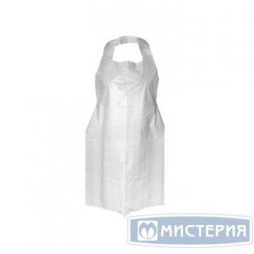 Фартук 120х80см, бел., размер M, ПЭ, 100 шт/уп 100 шт /упак 10 уп./кор.