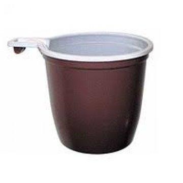 Чашка кофейная 200 мл бело-коричневая (ИнтроПластик 1250/50)