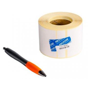 Самоклеящаяся этикетка ненапечатанная из бумаги ЭКО 58*40