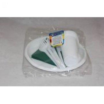 Набор Пикник ( 6 стак 0,2л., 6 тарелок, 6 вилок, 6 ножей,  6 салф.цветная) 15 упак/кор