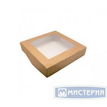 Коробка DoEco 200х200х40мм ECO TABOX 1500 GL , с окном, коричн. 50 шт/упак 200 шт/кор