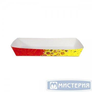 Лоток для фаст-фуда 180х80х30мм с печатью Рог изобилия 220 шт/кор