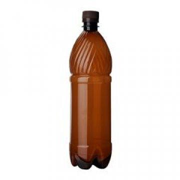 ПЭТ бутылка, коричн., 1,5 л с крышкой 45 шт./уп. 45 шт./кор