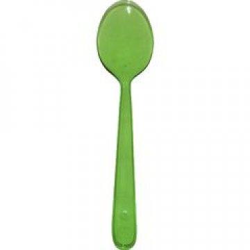 Ложка 180мм, зелён. (салат), кристалл, ПС 50  шт/уп 700 шт./кор.