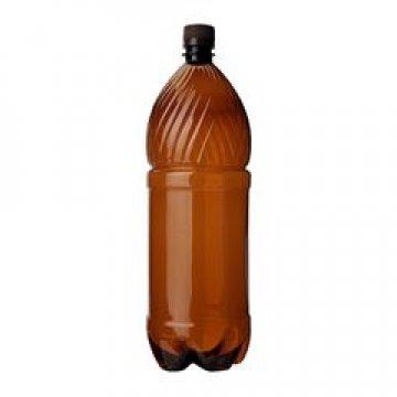 ПЭТ бутылка, коричн., 1 л с крышкой 60 шт/уп 60 шт./кор