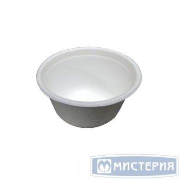 Соусник 60мл, d 63мм, h 35мм, бел., сахарный тростник 100 шт/упак 25 упак/кор