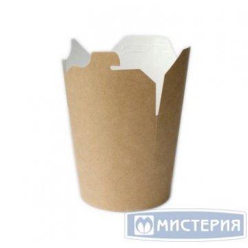 Коробка для лапши (контейнер ) China-Pack 750мл, крафт 50шт/уп 500шт/кор
