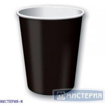 Стакан бумажный 400мл (1000шт/кор) Черный Black, 400/D90*D60*H135