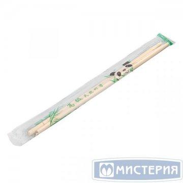Палочки  китайские h 230мм d 5мм, бамбуковые в инд.ПЭ.упак.с зубочисткой 100 пар/уп 30 уп/кор
