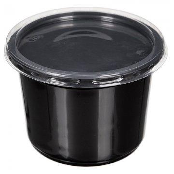 Контейнер для салатов,  круглый, D- 162 мм, черный , ПС 500 шт./уп. 500  шт/кор