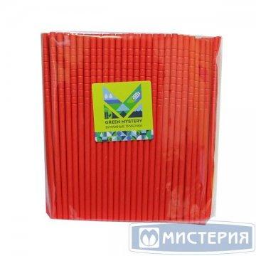 Трубочки бумажные гибкие Red, цвет красный, d=6мм L = 195мм 250 шт/уп 20 уп/кор