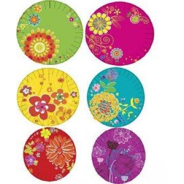 Тарелка d=180 мм дизайн Цветочная коллекция 10шт/уп 50уп/кор