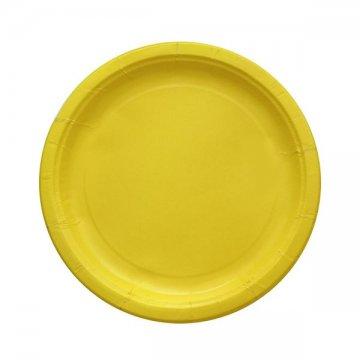 Тарелка бум. 230мм Yellow (IP500 500шт/кор