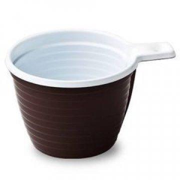 Чашка хол/гор, 0.18л, коричн/бел., ПП 6шт./уп. 50уп/кор