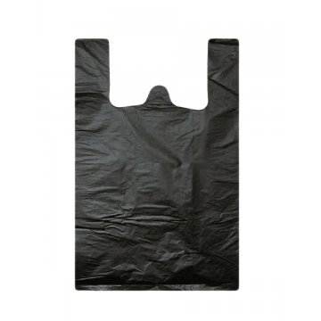Пакет из ПЭНД 30/7.5*55 (13мкм) майка чёрная 100шт/упак