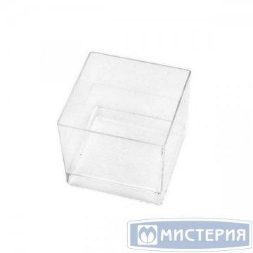 Форма д/фуршетов, Чашка Куб, 60мл, 47х47, прозрачн., ПС 15 шт./уп 16 уп/кор