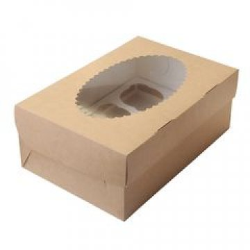 Коробка DoEco 100х160х100мм ECO MUF 2, с окном, коричн/белый 200 шт./кор. 200 шт./кор