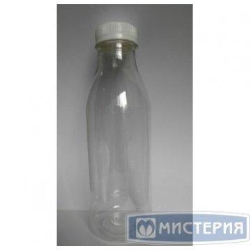 ПЭТ бутылка прозрачн., 0,5 л с крышкой, широкое горло 100  шт/уп 100  шт/кор
