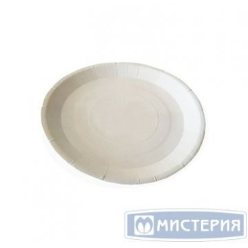 Тарелка d 230мм, ECO PLATE 230 BIO, бел., картон 50 шт/уп 8 уп/кор