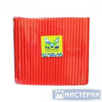 Трубочки бумажные Red, цвет красный, d=8мм L = 195мм 250 штук/упак 20 упак/кор