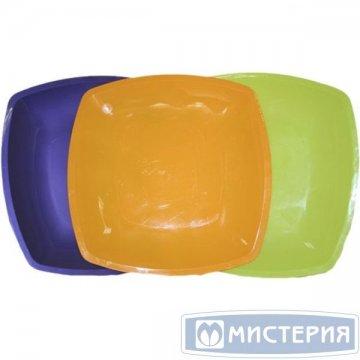 Тарелка - блюдо, квадратная Цвета в ассортименте,300мм   ПП 3 шт/уп 12 уп/ кор.