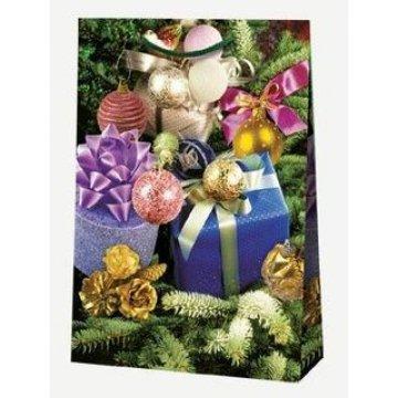 Пакет ламин.Подарки и шарики 25х35х9см, бум. 10шт/уп 100 шт/кор