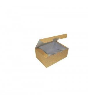 Коробка на вынос ECO FAST FOOD BOX L 150х91х70 мм крафт без печати 25 шт/упак 500 шт/кор