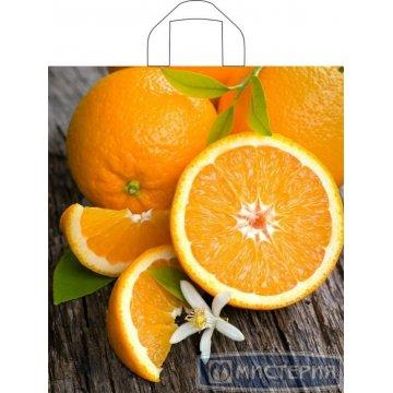 Пакет (мешок) петля ПВД 43,5х40см, 35мкм, Свежий апельсин 50 шт/уп 500 шт/кор