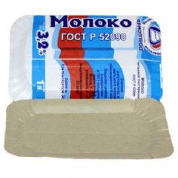 Тарелка, 130х200мм, толщ.0.45мм, коричн.молоко, ламинир.картон  100 шт/уп  1500 шт/кор