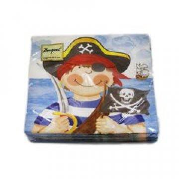 Салфетки 33х33см, 2 сл., Маленькие пираты, бум. 20 шт/упак 15 упак/кор